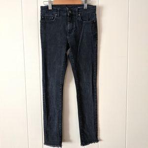 Saint Laurent Black Mid Rise Skinny Jeans 25*